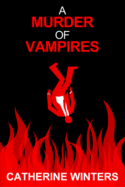 Promotional image three for A MURDER OF VAMPIRES inspired by MAD MEN falling man intro.