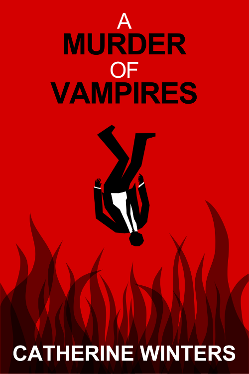 Promotional image four for A MURDER OF VAMPIRES inspired by MAD MEN falling man intro.