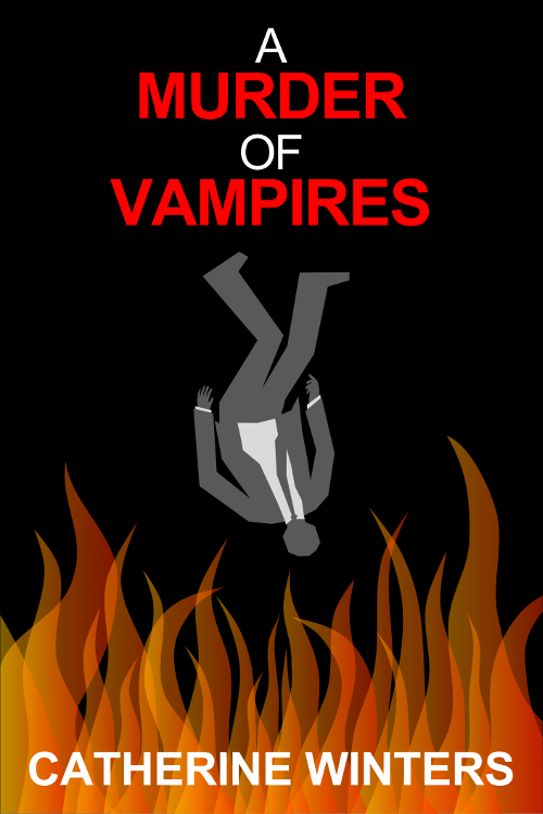 Promotional image five for A MURDER OF VAMPIRES inspired by MAD MEN falling man intro.