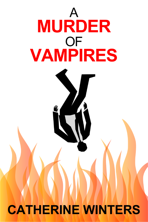 Promotional image six for A MURDER OF VAMPIRES inspired by MAD MEN falling man intro.
