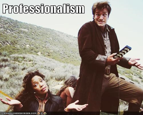 Nathan Fillion Professionalism