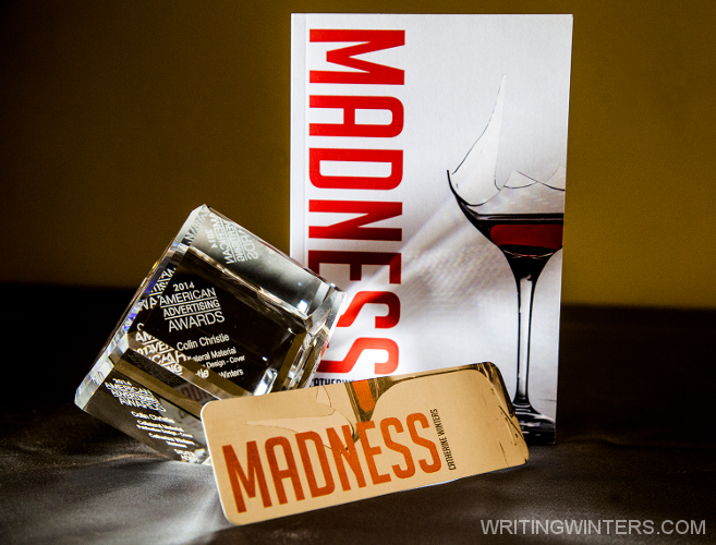 Silver American Advertising Award (ADDY) for Cover Design by Colin Christie on Catherine Winters' Madness